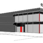 Gevelimpressie na de renovatie van kantoren
